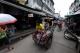 Trishaw transport in Mae sot Burmese market Thailand