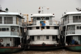 Ferries on Rangoon river
