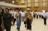 The lady at the Parliament on 10th July 2012, Naypyidaw, Myanmar.
