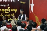19-7-12 Aung San Suu Kyi addresses NLD party members