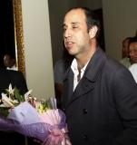 U.N. Human Rights envoy to Myanmar, Tomas Ojea Quintana, ,  arrived  at Chatrium Hotel  on Sunday ,July 29,2012  in Yangon, Myanma((AP Photo/Khin Maung Win)