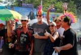 14-04-12 - PHOTO Jpaing tourists tourists having a good time in Burma.