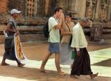 01-09-12 - Photo Jpaing Tourists stroll through a Pagoda in Burma