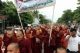 02-09-12 Monk protest in Mandalay - PHOTO - Khin Maung Win Myanmar Buddhist monks stage a rally to protest against ethnic minority Rohingya Muslims and in support of Myanmar President Thein Sein's stance toward the sectarian violence that took place in June between ethnic Rakhine Buddhists and Rohingya Muslims in western Myanmar, in Mandalay, central Myanmar.