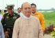 24-08-12 -  PHOTO - Thant Sin Nyein Chan / Irrawaddy President U Thein Sien made a trip to Kyaung Gone Township, Irrawaddy Division on 24 Aug. During his visit he provided 4047.9 Kyat to farmers for cultivation after the recent flood.