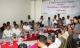 06-09-12 Peace conference - PHOTO Jpaing Delegates from ten democratic parties and the Burmese Peace mission hold a conference at Yuzana Hotel in Shwe Gone Taing township in Yangon at 1 pm today.  Moe Thee Zun, (seated, second from left) and other recently returned exiles to Burma also attended the conference.