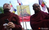 15-10-12 - OIC  protest - PHOTO - Jpaing Buddhist monks protest in central yangon against the opening of an office forThe Organization of Islamic Cooperation (OIC)