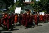 15-10-12 monks protest in rangoon over the opening of a OIC office in Burma