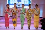 24-02-13  Myanmar models take part in the competition of Miss Myanmar International at Myanmar Convention Center in Yangon, Myanmar,  Gonyi Aye Kyaw crowned.
