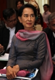Daw Aung San Suu Kyi attend the constitution democracy workshop at Micasa hotel on Wednesday, May 8, 2013, in yangon, Myanmar.