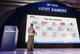U Kyaw Lynn explain system of  mobile banking at yangon, sedona hotel.