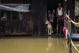 Flood water in Hlegu at the Yangon region of Myanmar.