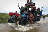 Flood water in Hlegu in the Yangon region of Myanmar.