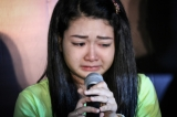 Mi Kon Htaw  ssaying with tears at Htoo Eain Thin Music Show Press in Yangon on August 14.