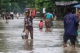 People moving to safe places and shelters on 6th August as the houses from some wards in Bago Region were drowned due to the heavy rain and usual tide.