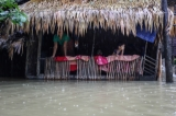 Houses from some wards in Bago Region were floated on 6th August due to the heavy rain and unusual tide.