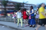 Chinese sex workers at public bridges waiting for customers and sex in eastern part of Shan State, border of China.( Photo - Nang Seng Nom / The Irrawaddy )