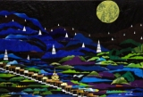 A collage by Burmese artist San Zaw Htway. (Photo: JPaing / The Irrawaddy)