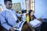 U Phyoe wai yar zar chairman myanmar marketing committee. ( Photo - JPaing / The Irrawaddy )
