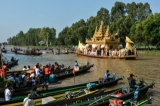 Phaung daw oo pagoda fesatival is one of the largest Buddhist festivals in Burmaat Inlay lake in Shan State. (Photo - Tezahlaing / The Irrawaddy)