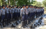 20-02-15- Photo:- JPaing Myanmar police involved in European Union (EU) Crowd Management Training, introduced to support reform within the Myanmar Police Force.