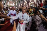 The Catholic church is celebrating its 500th anniversary in Burma this weekend, with events at St. Mary's Cathedral in downtown Rangoon. ( Photo - JPaing / The Irrawaddy)