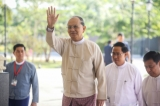 President Thein Sein receives political stakeholders at his residence in Naypyidaw for an unprecedented conference of 48 leaders representing ethnic, military and political interests on Jan. 12, 2015. (Photo: JPaing / The Irrawaddy)
