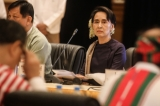 Political stakeholders convene at the president's home in Naypyidaw for an unprecedented conference of 48 leaders representing ethnic, military and political interests on Jan. 12, 2015. ( Photo - JPaing / The Irrawaddy)