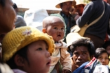 Civilians displaced by fighting between the Burma Army and Kokang rebels in Laukkai, Shan State, 17 February 2015. (Photo: JPaing / The Irrawaddy)