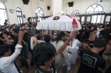 The Azadari Mourning of Shia Muslim was held at Mago Mosque on 30th Street on Nov.4, 2014 in Pabedan Township in Rangoon. The mourning marks the anniversary of the Battle of Karbala when Imam Hussein ibn Ali, the grandson of Muhammad, and a Shia Imam, was killed by the forces of the second Umayyad caliph Yazid I at Karbala in Iraq. Many Shia Muslim in Rangoon attended the mourning which is held worldwide annually in the first month of Islam Year. (Photo: Sai Zaw/The Irrawaddy)