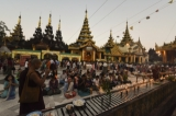 Devotees thronged to Shwedagon Pagoda on March 4, Full Moon Day of Tabaung. Buddhists did good deeds and paid homage to the pagoda. (Photo: Sai Zaw/The Irrawaddy)