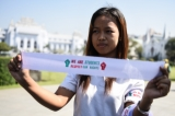 White armband campaign begins in Rangoon on March. 13 (Photo: Sai Zaw/The Irrawaddy)