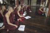 Monks reciting Buddha's teachings.