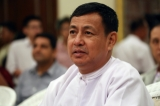 U Ye Htut, Minister for the Ministry of Information of Burma and Presidential Spokesman. ( Photo - JPaing / The Irrawaddy)