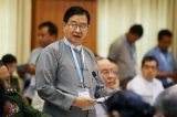 The seventh round of peace talks between Union Peacemaking Work Committee and Nationwide Ceasefire Coordination Team (NCCT) kicked off at Myanmar Peace Center on March 17 in Rangoon. Photo: JPaing / The Irrawaddy)