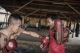 Moe Hein practices for his next fight with coach Shwe Kyi San in Me-Kathi Club, February 2015. (Photo: Timo Jaworr / The Irrawaddy)