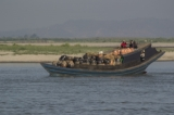 A local cargo vessel sailing in Irrawaddy River. (Photo - teza hlaing/ The Irrawaddy)