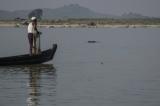 A local fishing boat preparing to catch fish with Irrawaddy dolphin. (Photo -teza hlaing/ The Irrawaddy)