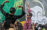 15-04-15 - Photo: J Paing Burma's traditional New year celebration is called the Thingyan water Festival during which participants splash water over each other