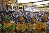 May 2nd is Kason Full Moon Day, a day of religious significance, on Burmese lunar calendar and annually the ceremony to pour water on Boa tree is held on this day. Buddhist devotees poured water on Boa tree at Shwe Dagon Pagoda on Kason Full Mon Day in Rangoon. (Photo: Sai Zaw/The Irrawaddy)