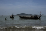 Some fishing boats are seen on the Andaman Sea. (Photo: Tin Htet Paing / The Irrawaddy)