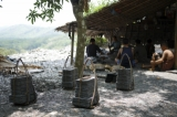 A slate extracting camp on Thin Bone Mountain. (Photo: Tin Htet Paing / The Irrawaddy)