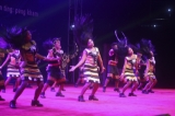Wa dancers perform at the opening ceremony of an ethnic summit in Panghsang, Wa Special Region. (Photo: Jpaing / The Irrawaddy)