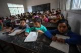 Schoolchildren at a Panghsang school. (Photo: JPaing / The Irrawaddy)