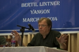 Bertil Lintner (born 1953) is a Swedish journalist, author and strategic consultant who has been writing about Asia for nearly four decades.[1] He was formerly the Burma correspondent of the now defunct Far Eastern Economic Review and currently works as a correspondent for Swedish daily Svenska Dagbladet and Denmark's Politiken. (Photo - Sai Zaw)