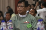 Tin Aye is a retired Burmese lieutenant general  and currently chairs the country's Union Election Commission.  In the Burmese general election, 2010, he contested a Pyithu Hluttaw seat in Tada-U Township and won. (Photo - JPaing)
