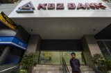 A Kanbawza (KBZ) Bank branch is pictured in downtown in Rangoon  in January 20, 2016. Photo: JPaing / The Irrawaddy