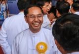 Rangoon Mayor Myint Swe attended the opening ceremony of the airport.  Photo - Pyay Kyaw / The Irrawaddy