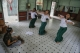 Some female Students are rehearsal training for Dancing at The State School of Fine Arts in Mandalay on May 23, 2016. ( Photo - Zaw Zaw / The Irrawaddy )