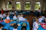 Basic education schools across Myanmar opened on June 1 as the academic year 2016-17 started. Primary students at Botatung No (6) School in Yangon on June 1, 2016. ( Photo - Pyay Kyaw / The Irrawaddy)